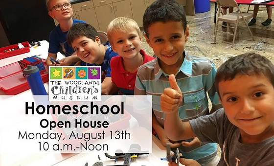 Homeschool Open House at The Woodlands Children's Museum.