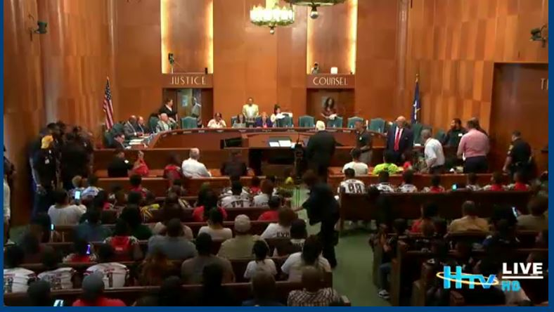 Daytime Curfew Hearing at Houston City Hall